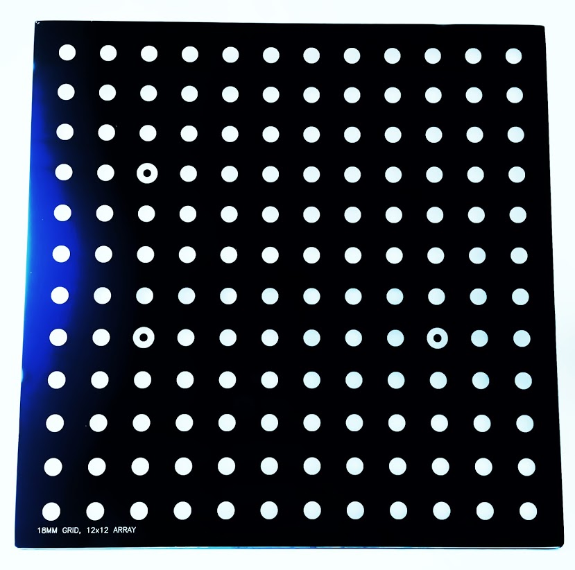 18mm glass IR calibration grid