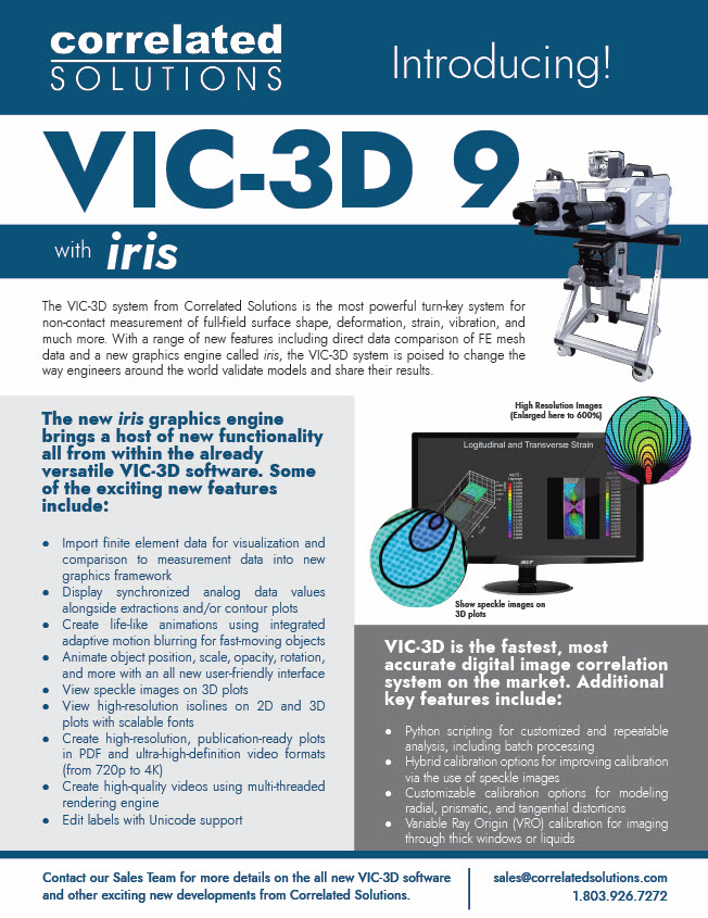 VIC-3D 9 New Features